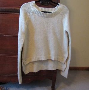 Miss me beige gold sequin elbow patch sweater M